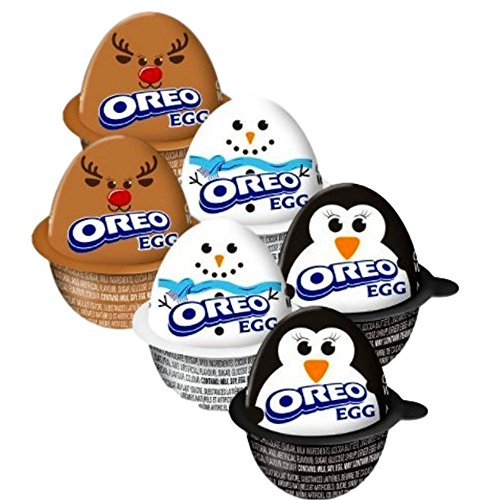 Cream Eggs - Milka Oreo Holiday Eggs - Creme Filled Candy with Cookie Pieces Pack of 6