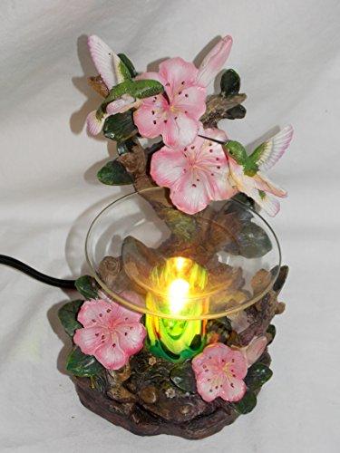 New Hummingbirds on Pink Flowers Fragrance Oil Burner Tart Warmer with -