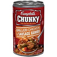 Campbell's Chunky Soup, Grilled Chicken & Sausage Gumbo, 18.8 Ounce (Pack of 12)