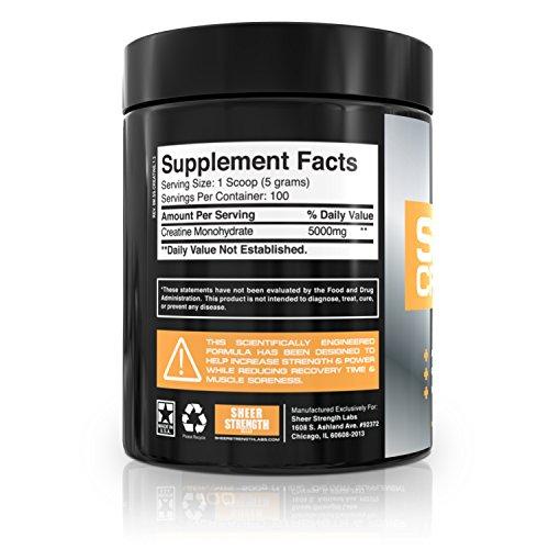 Sheer Strength Labs Creatine Monohydrate 500g 100 Servings