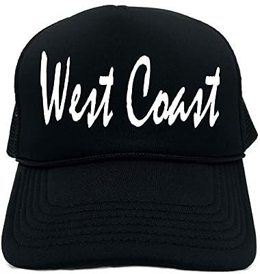 Funny Trucker Hat (WEST COAST (CALIFORNIA)) Unisex Adult Foam Retro Cap