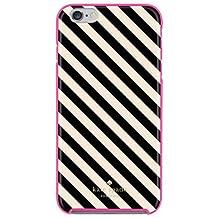 Kate Spade New York Hybrid Hardshell Case For I Phone 6 Plus Diagonal Stripe Black/Cream