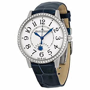 Best Epic Trends 51X19I9arGL._SS300_ Jaeger LeCoultre Rendez-Vous Silver Dial Diamond Bezel Blue Leather Ladies Watch Q3448420