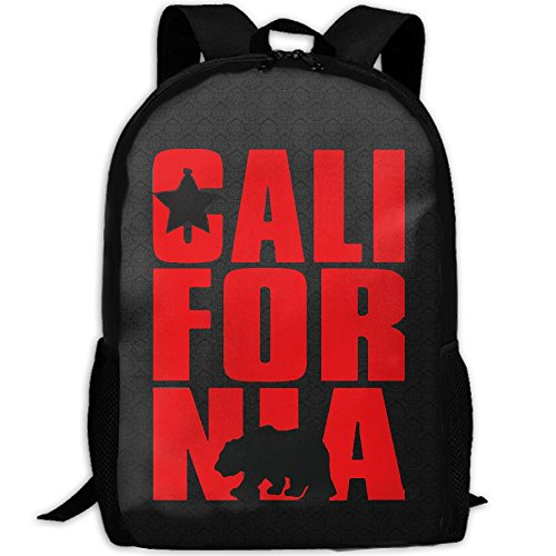 California Cal Bear Unique Outdoor Shoulders Bag Fabric Backpack Multipurpose Daypacks For Adult