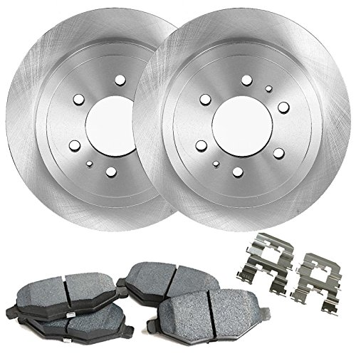 "Detroit Axle - 12"" (305mm) 6-Lug Front Brake Rotors & Ceramic Pads w/Clips Hardware for 1999-2006 Silverado/Sierra 1500 4-Wheel Disc Brake - 02-06 Escalade/Avalanche - [01-06 Suburban, Yukon XL,Tahoe]"