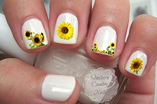 - Amazon.com : Sunflower Flower Nail Art Decals : Beauty