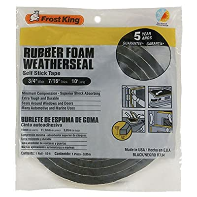 Frost King R734H Sponge Rubber Foam Tape 3/4