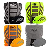 BTR Waterproof High Visibility Backpack Cover, Rucksack Cover Plus Waterproof & High Visibility Helmet Cover. Yellow. Regular Backpack Cover