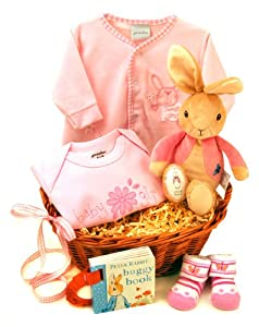 Newborn Baby Gift Hamper - Sweet Baby Girl Gift Basket Available ...