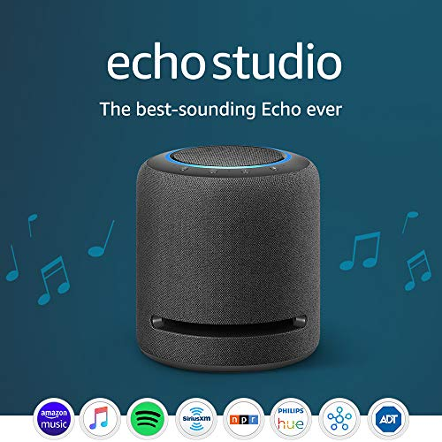 Echo Studio - High-fidelity smart speaker with 3D audio and Alexa