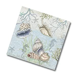 Keller-Charles Sea Treasures Cocktail Napkins