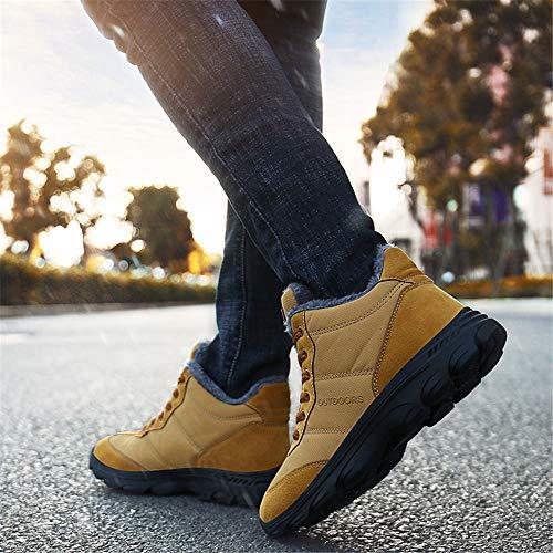 Nero Rosa Foderato Ginnastica Giallo Uomo Boots Piatti Invernali Neve Sneaker Pelliccia 46 36 Sportive Outdoor Lavoro Donna Da Stivali Snow Caldo Blu 6UHAfax0