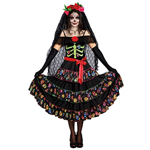 Dreamgirl Women's Lady of The Dead, Multi, -