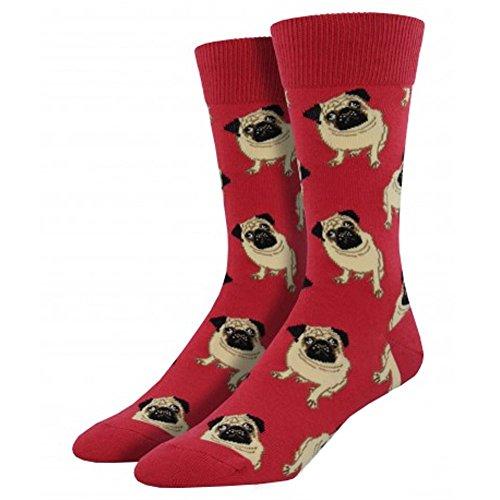 Socksmith Mens Pug Novelty Sock