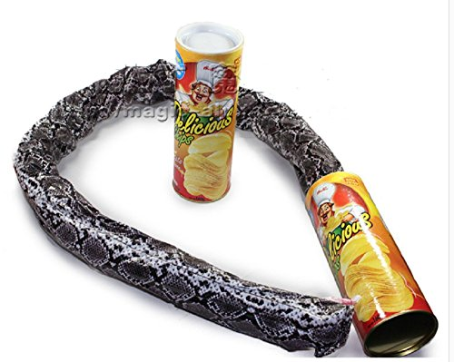 Lingduan Funny Potato Chip Cans Scary Trick Prank Toy Creative Fries Cans a Snake Joke Gift Prank Large Size Prank Toy Scary Trick Toy Gift Fool Day Halloween Party Decoration Can Jump Spring Snake