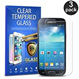 gorilla glass samsung s4 mini - Samsung Galaxy S4 Mini Tempered Glass, 3-Pack Premium Tempered Glass Screen Protector For Samsung Galaxy S4 Mini