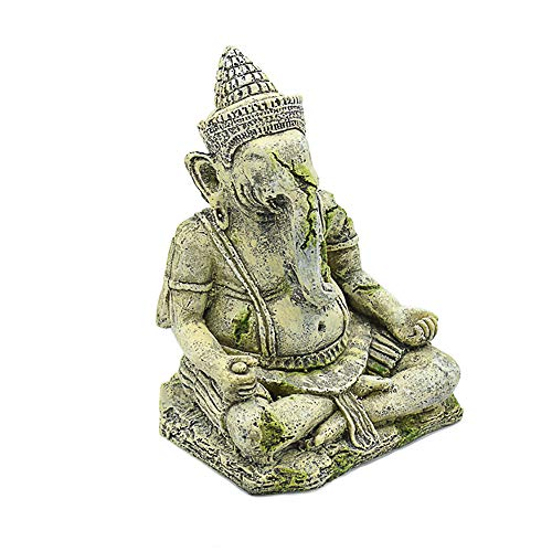 - Ganesh Buddha Aquarium Ornaments, Exotic Environments Statue Decorations with Moss Fish Tank & Reptile & Amphibian Habitat Decor Accessories