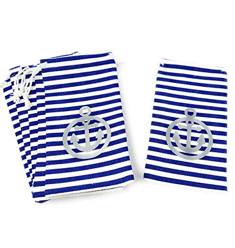 Fish Extender Bag Nautical Party Favor Supplies Cruise Gift Exchange Drawstring - Set of 6