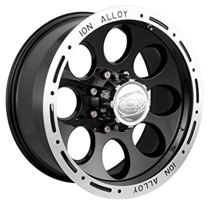 20x9//8x165.1mm Ion Alloy 174 Black Beadlock Wheel