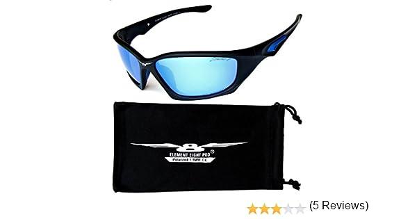 Elemento ocho gafas de sol polarizada Pro 1, 1 mm TAC tecnología béisbol ciclismo Pesca Golf - Marco negro -Lente de hielo azul: Amazon.es: Ropa y ...