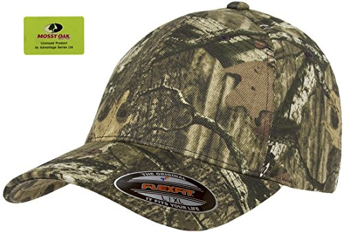 Flexfit Mossy Oak Camouflage Cap, Infinity, X-Large / XX-Large - Cap Stretch Camo