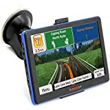 junsun 7 inch Screen Portable Car GPS Navigation Built-in 8GB US and Canada Free Map Update