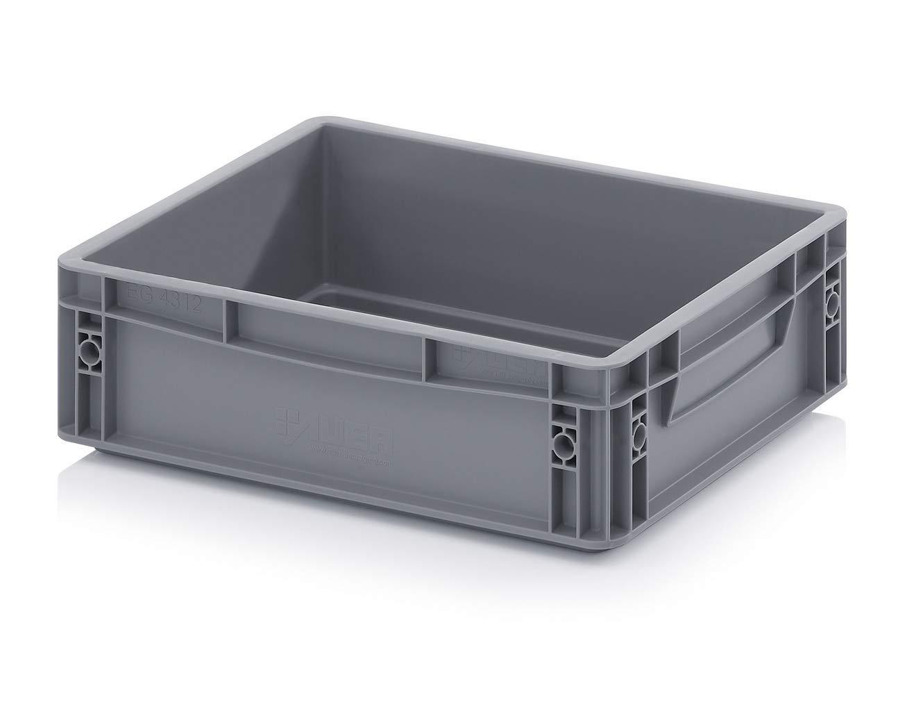 10 x 10 litros de plástico de alta resistencia de almacenamiento unidades cajas gris (10 unidades): Amazon.es: Bricolaje y herramientas