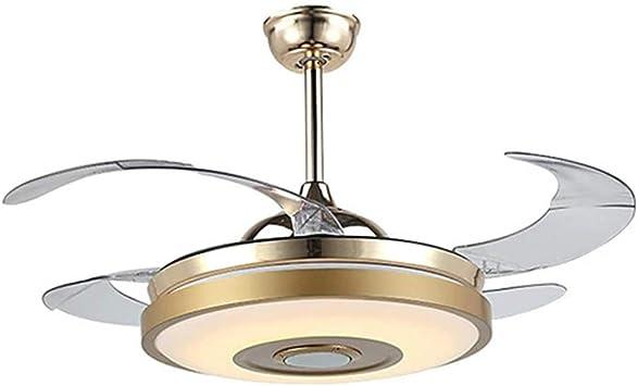 FHUA Ventiladores para el Techo con Lámpara Luz, Ventilador de ...