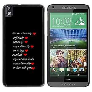 Caucho caso de Shell duro de la cubierta de accesorios de protección BY RAYDREAMMM - HTC DESIRE 816 - LISTA DE AMOR