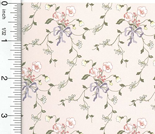 Wallpaper Cottage Prints - Brodnax Prints Dollhouse Wallpaper Cottage Garden