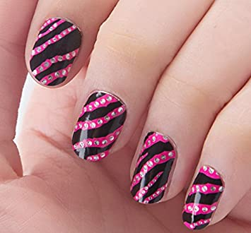 Amazon Com Nail Art Stickers Decals With Animal Prints Zebra Nail