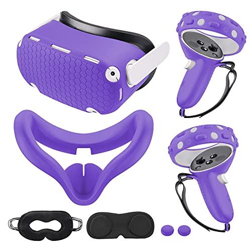 Cubierta Kang Yu Compatible Con Oculus Quest 2 - Violeta