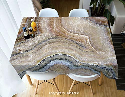 - Rectangular tablecloth Surreal Onyx Stone Surface Pattern with Nature Details Artistic Picture Decorative (55 X 72 inch) Great for Buffet Table, Parties, Holiday Dinner, Wedding & More.Desktop decora