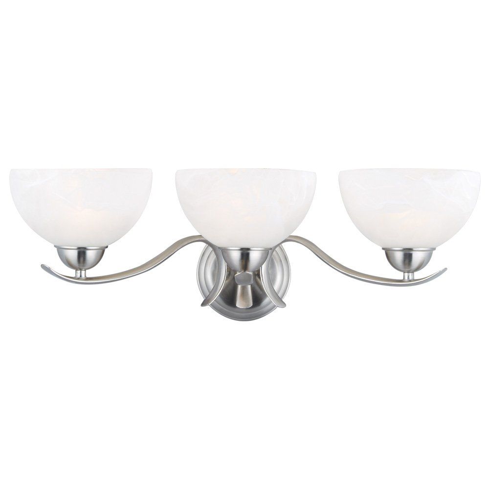Design House 512541 Trevie 3 Light Vanity Light, Satin Nickel