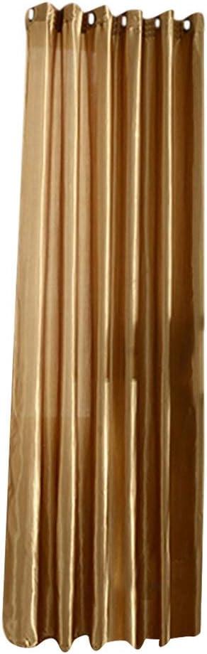 Hearsbeauty 100/x 250/cm de Poin/çonnage Solide Couleur Doux fen/être Rideau Occultant Chambre /à Coucher Draperies
