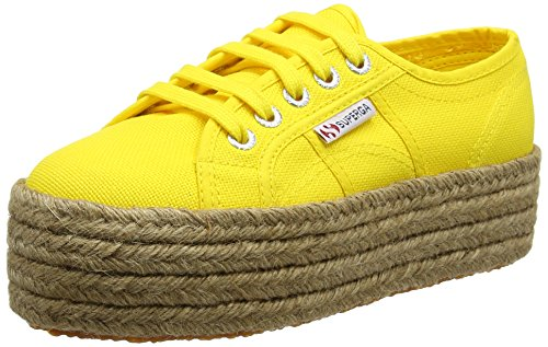 Superga 2790 Cotropew, Baskets de Plate-Forme Mixte Adulte Jaune tournesol