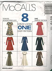 8518 UNCUT Vintage McCalls Sewing Pattern Misses Semi Fitted Dress Princess Seams Size 10 12 14