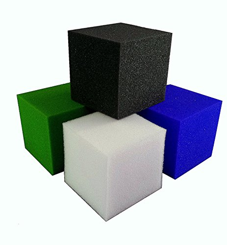 "Foam Pits Blocks/Cubes 20 pcs. (LIME GREEN) 5""x5""x5"" (1536) Pit Foam Blocks/Cubes For Skateboard Parks, Gymnastics Companies, and Trampoline Arenas"