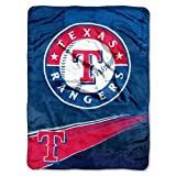 MLB Texas Rangers Speed Plush Raschel Throw Blanket, 60x80-Inch