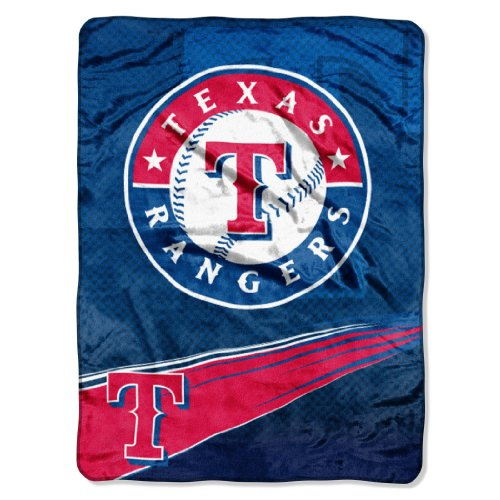 MLB Texas Rangers Speed Plush Raschel Throw Blanket, -