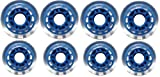 Indoor ROLLER HOCKEY WHEELS HiLo SET 4-72mm 4-80mm 78a
