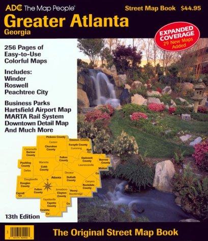 Greater Atlanta, Georgia Street Map Book