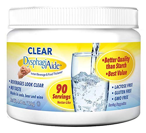 Clear DysphagiAide® Instant Beverage and Food Thickener Powder 4.4oz Jar- 90 Servings