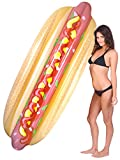 Coconut Float Pool Floats; Hot Dog Pool Raft, 7 Ft.