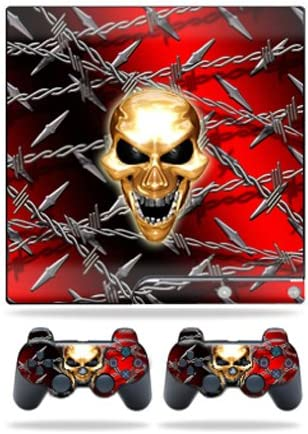 2 Controller Skins Sticker Pure Evil MightySkins Skin Compatible with Sony Playstation 3 PS3 Slim Skins