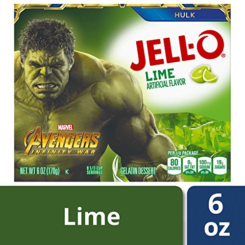 Jell-O Lime Gelatin Dessert Mix, 6 oz Box