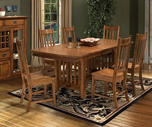 "Intercon Mission Leopold 7 Pc Dining Set (42 x 72-90, 18"" Bfly Lf)"