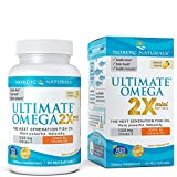 Ultimate Omega 2X Mini D3 – Nordic Naturals Omega-3 Supplement with Vitamin D3 Supports Heart, Brain, Immune and Bone Health, Lemon Flavor, 60 Soft Gels