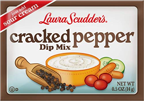 Mix Dip Pepper (Laura Scudder's Cracked Pepper Dry Dip Mix, 0.5 oz. Great for Chips, Vegetables and Dry Rub Seasoning Meat or Poultry (Pack of 12))