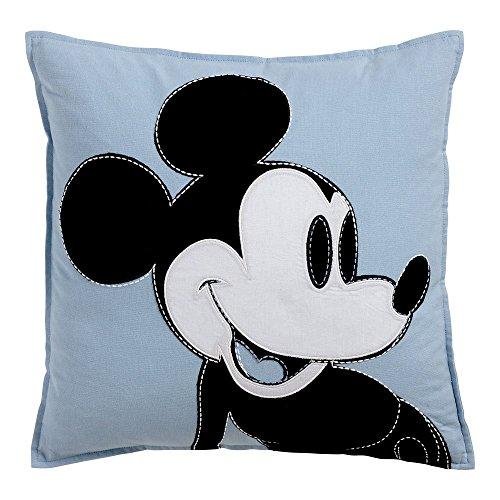 - Ethan Allen   Disney Color Block MIckey Mouse Pillow, Sky Blue